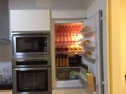 De koelkast gevuld