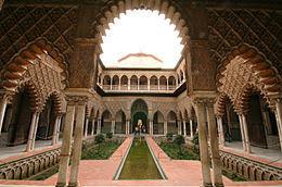Patio de las Doncellas in het Alcázar = Koninklijk paleis)