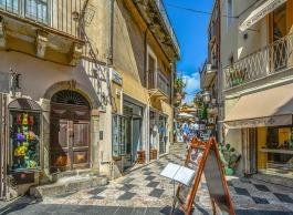 Taormina Tourist Sicily Town Mediterranean Shop